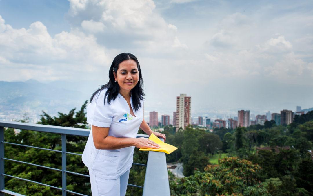 Limpieza de edificios en Medellín