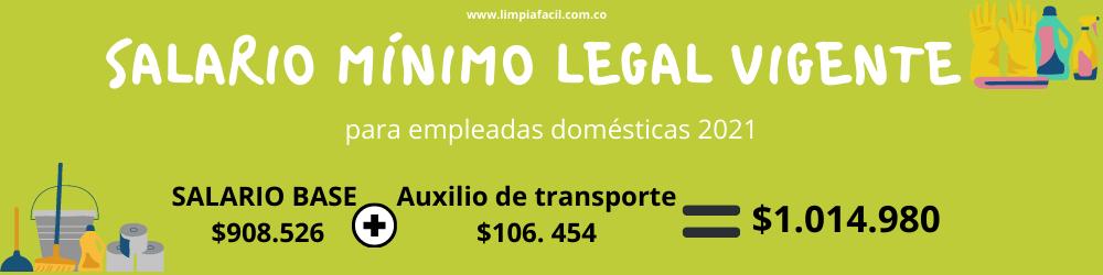Cuál es el salario de una empleada doméstica en Colombia en el 2021
